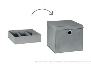 Storage Boxes Regalraum UK ドレスルーム収納 灰色