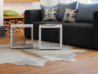 Cube Shelves Regalraum UK モダンデザインの リビング
