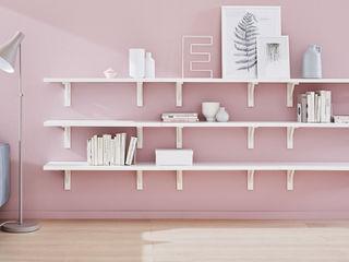 Wall Shelves Regalraum UK 北欧デザインの リビング