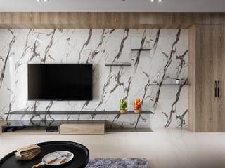 木皆空間設計 Paredes y suelos de estilo minimalista