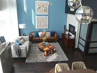 Emaar Lofts Family House Harf Noon Design Studio Eklektik Oturma Odası
