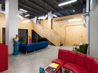 estudio551 Estudios y despachos de estilo industrial Multicolor