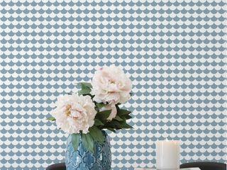Housed - Wallpapers Muren & vloerenBehang Papier Blauw