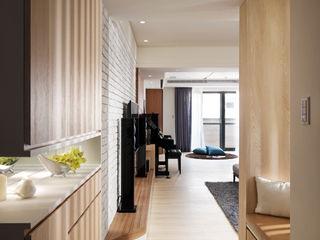 星葉室內裝修有限公司 Scandinavian style corridor, hallway& stairs