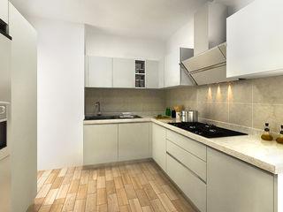 KITCHEN VIEW 1 homify Modern Kitchen White