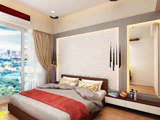 Master bedroom. The inside stories - by Minal Modern Bedroom Plywood Brown