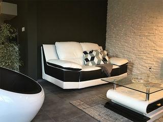 Aménagement de l'espace et décoration d'intérieur - Maison témoin - Drôme (26) KREA Koncept Salon moderne