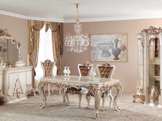 LUXURY LINE FURNITURE Dining roomTables Wood Brown