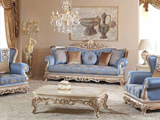 LUXURY LINE FURNITURE Living roomSofas & armchairs Wood Blue