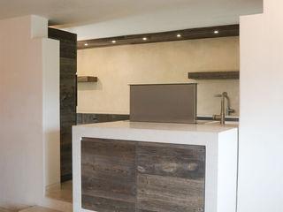 RI-NOVO Einbauküche Holz Weiß