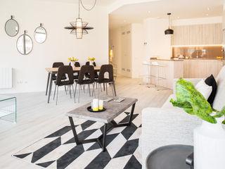 Markham Stagers Ruang Keluarga Modern White