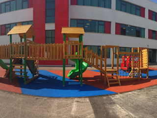 TED Kocaeli İlköğretim 1 ve 2.sınıf Oyun Bahçesi Bersa İç ve Dış Ticaret Ltd. Şti. Klasik Okullar Ahşap Ahşap rengi