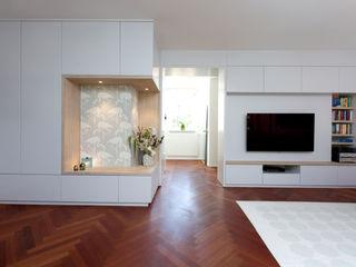 Wohnung Frankfurt SIMONE JÜSCHKE INNEN ARCHITEKTUR Moderne Wohnzimmer Grau