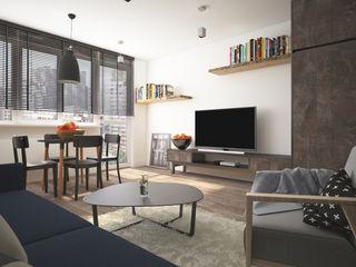 AIN projektowanie wnętrz Industrial style living room