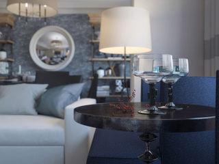 NEW YORK MORNING KAPRANDESIGN Гостиные в эклектичном стиле Синий