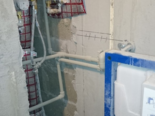 Студия интерьерного дизайна happy.design Minimalist style bathroom