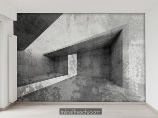 Concrete walls ideas Affreschi & Affreschi Pareti & PavimentiDecorazioni per pareti