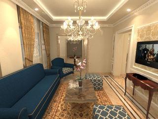 شقة سكنية ( دوبلكس ) في التجمع الخامس Quattro designs غرفة المعيشة