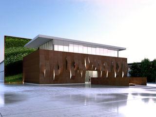 nuovi uffici Studiogkappa Case in stile industriale Metallo