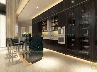 BGV House Arci Design Studio Ruang Penyimpanan Wine/Anggur Modern