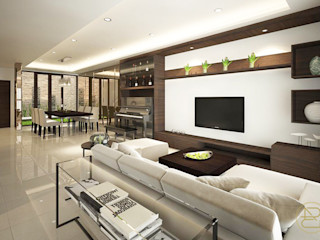 SL House Arci Design Studio Ruang Keluarga Modern