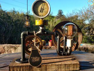 Decoración Lámpara Estilo Industrial Lamparas Vintage Vieja Eddie HogarDecoración y accesorios Madera Negro