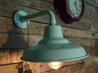 Lámpara Galponera Pared Industrial Vieja Eddie Lamparas Vintage Vieja Eddie LivingsDecoración y accesorios Hierro/Acero Turquesa