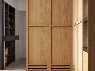 禾光室內裝修設計 ─ Her Guang Design Modern Corridor, Hallway and Staircase Wood-Plastic Composite Wood effect