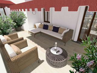HAJECH | APPARTAMENTO ADIdesign* studio Balcone, Veranda & TerrazzoMobili