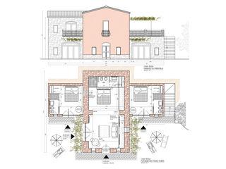 CASA ROSA | AGRITURISMO ADIdesign* studio Soggiorno in stile rustico
