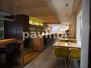 Restaurante Fraiche Pavinor Comedores de estilo industrial Hormigón Gris