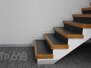 TP618 Modern Corridor, Hallway and Staircase Solid Wood White