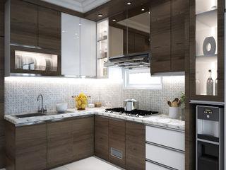 Widhendra interior Tủ bếp Ván ép Brown