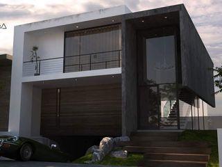 V Arquitectura Reihenhaus Beton Grau