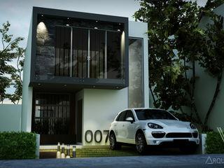 V Arquitectura Reihenhaus Grau