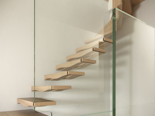 Siller Treppen/Stairs/Scale 現代風玄關、走廊與階梯 木頭 Wood effect