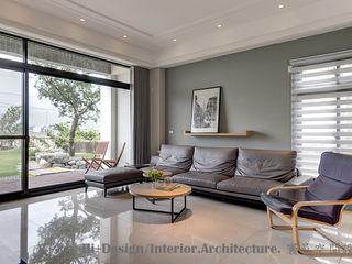 Hi+Design/Interior.Architecture. 寰邑空間設計 Salas de estilo moderno