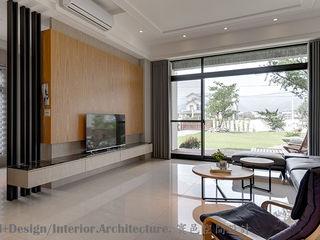 Hi+Design/Interior.Architecture. 寰邑空間設計 Гостиная в стиле модерн