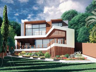 Вилла на море / Twisted house BOOS architects Дома с террасами Кирпичи Белый