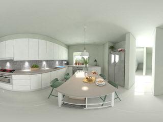 arquitecto9.com Built-in kitchens Concrete White