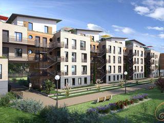 Perspectiva 3D de un edificio de viviendas Realistic-design Casas multifamiliares