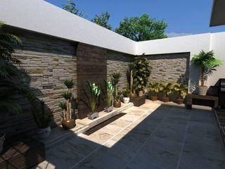 OLLIN ARQUITECTURA Zen garden Stone Multicolored