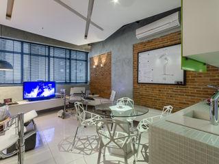 okha arquitetura e design Commercial Spaces Bricks Grey