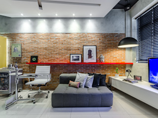 okha arquitetura e design Commercial Spaces Bricks Red