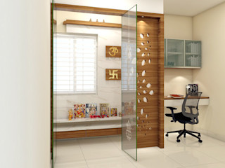 PROJECT @ GACHIBOWLI shree lalitha consultants Asian style study/office Plywood Brown
