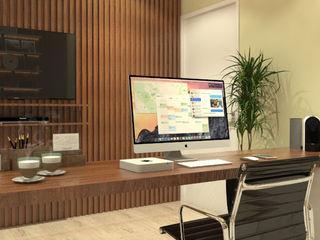 Caroline Berto Arquitetura Modern Study Room and Home Office MDF Multicolored