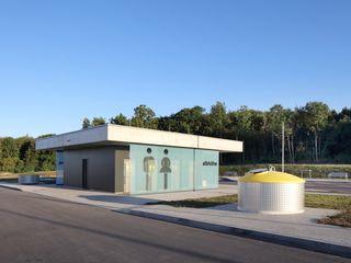 PWCs Autobahn A8 Architekturbüro zwo P Treppe