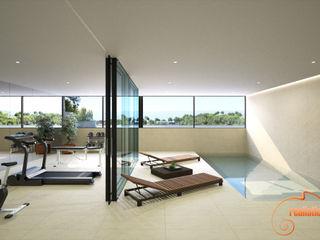 Proyectos 3D de spas, gimnasios y bañeras de hidromasaje Realistic-design Piscinas naturales