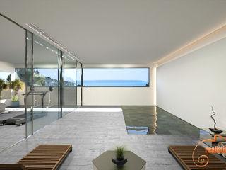 Proyectos 3D de spas, gimnasios y bañeras de hidromasaje Realistic-design Gimnasios domésticos de estilo moderno