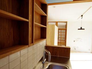 柏市K邸一戸建リノベーション K+Yアトリエ一級建築士事務所 北欧デザインの リビング 木 木目調